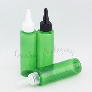100ml Empty Green E Liquid Plastic Container With Pointed Mouth Cap, Empty Cosmetic Containers,100CC Makeup Bottle