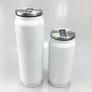 DIY sublimación de calor 17 oz latas de soda Cola taza de café Cola Copas de acero inoxidable latas de bebidas Coca-Cola doble aislamiento al vacío Tarro en stock