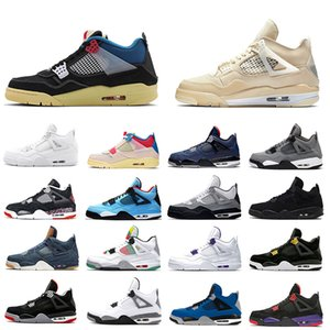 Nike Air Jordan 4 Air Retro Jumpman Segel Union 4 Herren Basketballschuhe Deep Ocean Neon Metallic Pack Lizenz Kaktus Jack White Cement 4s Trainer Männer Sport Turnschuhe
