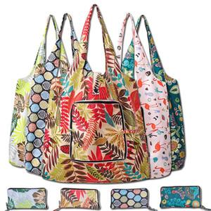 Neue wasserdichte Einkaufstasche mit Reißverschluss faltbare umweltfreundlicher Reißverschluss-Tasche Oxford Cloth-Geschenk-Beutel mit 10 verschiedenen Themen T3I51172