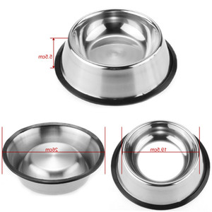 Stainless Steel Dog Bowl Pets Steel Standard Pet Dog Bowls Puppy Cat Food Drink Water Dish Pet Bowl Cuenco Para Mascotas