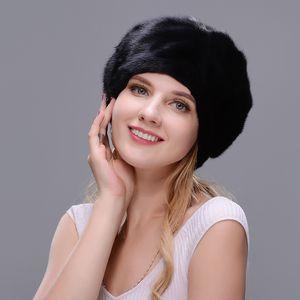 modo de invierno und Luxus JINBAOSEN Russische Schwarz dicke warm Hohe qualität cabaña Weihnachten pelz cabaña Frauen pelzmütze volle salvaje