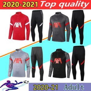 (20) (21) 남자 축구 운동복 세트 Survetement 폴로 셔츠 2020 2021 델 Chandal 긴 스포츠 축구 훈련 정장 조깅 세트를 소매 설정