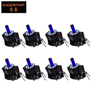 8PCS / 많은 디스코 클럽 DJ 파티 웨딩 무대 특수 새 모델 효과 기계 DMX 18 * 3W LED CO2 JET 기계