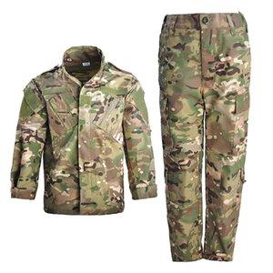 Открытые куртки Тактические Unifroms Детские боевые костюмы CP CAMOUFLAGE ARMY COUND KPY Security Militar Training Set