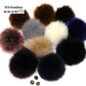 Beanie / Capul Caps Real Fur Pompom Pom Poms Poms Ball для шляпы Большой натуральный натуральный помпон обувь сумки аксессуары подлинные