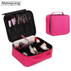 أكياس التجميل الحالات المهنة المرأة حقيبة عالية الجودة السفر المنظم سستة مصممي ماكياج المحمولة جذع المكياج