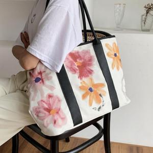 Designer-Mulheres Bolsa bolsa de lona grande capacidade Senhora sênior Totes Alta Qualidade Bolsas Graffiti Bag