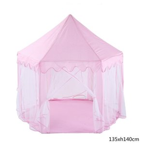 Kids Game Tent Princess Castle Tent Baby Ocean Ball Play House Collapsible Portable Folding Baby Birthday Gifts Photo Props