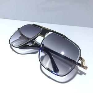 MACH clásicos cinco hombres y gafas de sol de moda de estilo de la vendimia del metal de las mujeres al aire libre unisex UV marco cuadrado 400 de la lente vienen con una calidad de carcasa superior,