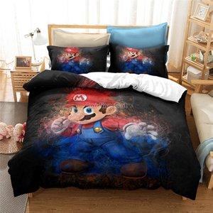 Новые 3D Super Mario Bros пододеяльник Set Весёлые Девушки Парни Дети Дети Пододеяльник Полный King постельное белье одеяла постельные принадлежности