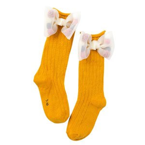 Girls Socks Toddlers Christmas Girls Big Bow Knee High Long Soft Cotton Lace baby Socks Kids knee girl