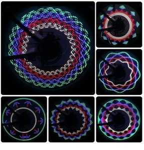 Bicycle Accessories 7 Led Hot Wheels 30 Figure Wheel Wire Light Color Wheel Light Cycling Light