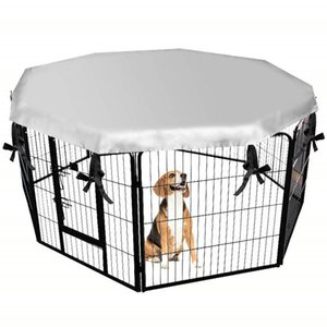 Dog cage sunscreen Outdoor pet sunscreen Rainproof and waterproof cover Octagonal pet cage cover Pet protection