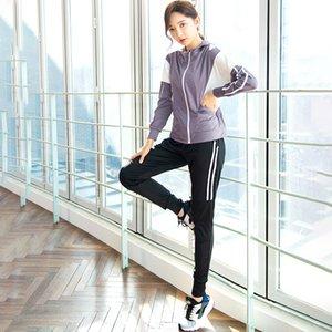 2020 İlkbahar Yeni Stil Spor Giyim KADIN Suit Zarif Ağ hong ye Jimnastik Eğitimi Suit Sabah Çalıştır Adım Spor