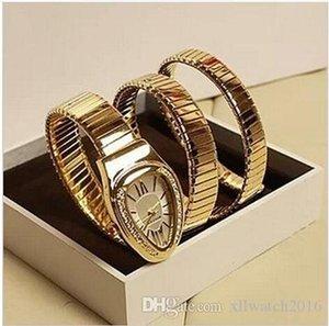 Cgjxs 2019 Serpenti mujeres de los relojes de cuarzo pulsera de señora Vintage Relojes serpiente de cristal de diamante relojes de alta calidad