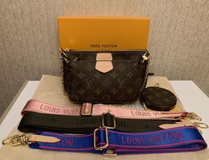 2020 solds الساخنة إمرأة حقائب المصممين handabgs المحفظة أزياء حقائب النساء سلسلة قناة النساء الكتف مع عملة المحفظة