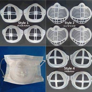3D respiración por la boca Máscara Holder Soporte amortiguador Assist Ayuda interior del soporte de silicona Soporte Máscara de 3 capas transpirable mascarillas boca Máscara
