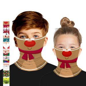 Çocuklar Chirstmas Yüz Noel Dekorasyon Doğa Sporları Bandana 2020 yılbaşı yüz maskesi Sihirli Bantlar yılbaşı süsleri Maskesi