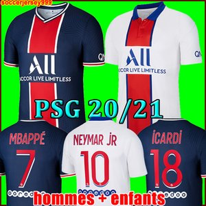 ICARDI PSG AIR JORDAN 20 21 camisas de futebol 2020 2021 Paris saint germain camisa NEYMAR JR MBAPPE jersey Survetement futebol kit mulheres camisa de futebol quarto 4o