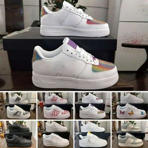 Force 1 One af1 off-w 2018 i più nuovi classica donne degli uomini di alta 1 uno sport scarpe da tennis cuscino d'aria Skate scarpe sportive di euro SZ36-45 KGF96 Tutti