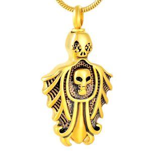 IJD9781 из нержавеющей сталь Нового Череп Shaped Мемориала ожерелье для Ashes Urn Кремации ювелирных изделий