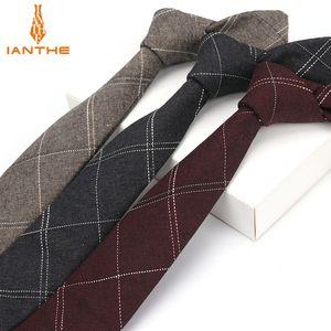 Terno de seis centímetros Men Ianthe laço Men clássico da manta gravata Formal Negócios bowknots Ties Masculino Cotton magro Magro Limite Ties Cravat