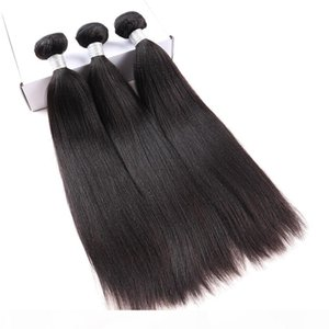 Yaki Human Hair Extensions Brazilian Virgin Hair Weave Bundles Deal Light Yaki Straight 3 Pieces Dolago