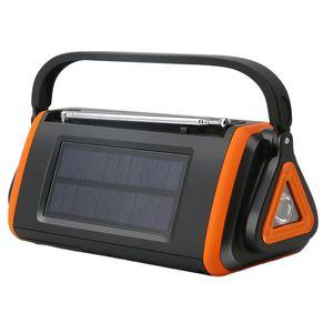 Dijital Görüntü Taşınabilir El Crank Radio LED USB Şarj Elektrik Güneş Acil Radyo