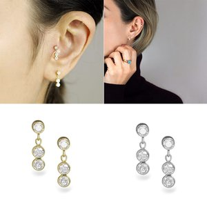 Luxury 925 Sterling Silver Punk Mujer Pendientes Stud Earrings For Lovers' Couples Anniversary Wedding Party Long Earring
