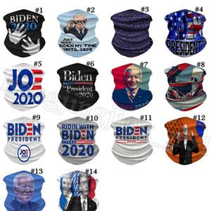 Biden Riding Masken Magie Stirnband Bandanas Gesicht Mouth Cover Designer Respirator 2020 Flaggen-Eis-Silk Radfahren Fahrrad Schal ZCGY83