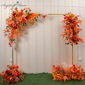 120cm Europen wedding artificial flowers arrangement party screen floral row stage background centerpiece frame wall ball decor
