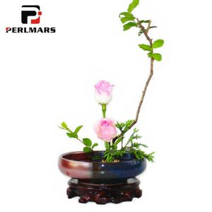 Classical Coarse Pottery Vase Ikebana Hydroponic Flower Pot Vases   Office Tabletop Bonsai Decor Accessories Craft Containers
