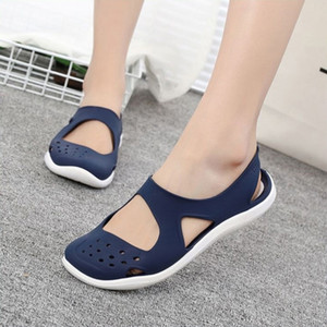 Summer Women Sandals Soft Flat Slip On Female Casual Jelly Shoes Girl Sandals Hollow Out Mesh Flats Fashion Beach Footwear New Y200620