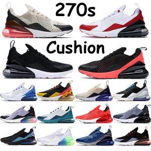 Hommes Femmes 270S chaussures de course triple explosion lime rouge université blanc noir olive punch or métallique être vrai sarcelle d'esprit des hommes de chaussures de sport