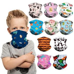 Máscara crianças Protective Bandana Ciclismo Rosto Fria Sentindo Ice Silk Magia lenço criativa Headband Kid desenhos animados face da tampa DHF1001