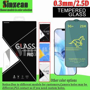 Caballo SWIFT 21H Protector de pantalla de vidrio templado de pegamento completo para VIVO V11 / V11 PRO / V11I / V9 / Y5S / Y7S / Y9S / Y20I en caja de cartón