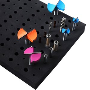 110 Holes Router Bit Tray Storage Holder for 1 4'' 1 2'' Shank Milling Cutters 6XDD