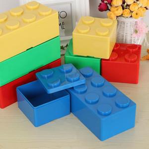 LINSBAYWU creativo Caja de almacenamiento Bloque de construcción en forma de caja de plástico ahorro de espacio que se superpone Keeping escritorio práctico Oficina de la Casa