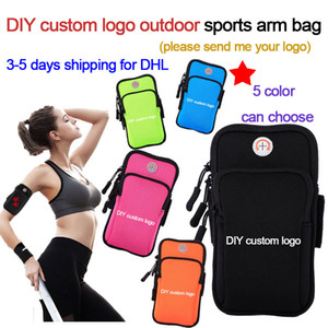 DIY custom logo outdoor sports arm bag,running exercise storage bag,creative and fashion Wrist Bag,for man and women,fast shipping for DHL