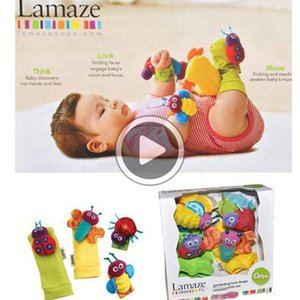 """Bebek yüksek kontrastlı bahçe Bug bilek """"kaka"""" kız erkek ve kız uğur böceği arı oyuncak hediye Lamaze"""