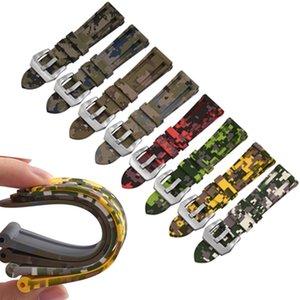 Digital Camo Sports Style Rubber Strap 20MM 22MM 24MM26MM Watch band Strap Dustproof Waterproof Watchbands For Pam Watch