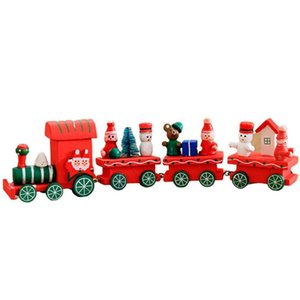 Cute Christmas Decorations Santa Claus Wooden Train Toys Multi-color Optional Children's Toys Exquisite Holiday Gifts For Party