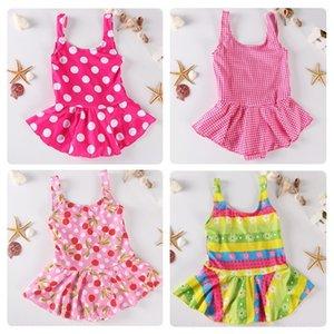 9lJip Kore tarzı çocuk prenses üçgeni tek parça etek çocuk Princess mayo öğrenci elbise NT11601 Mayo