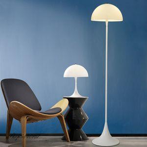 Salon Modern Basit Beyaz Lambader Akrilik Kişilik Zemin Işık Daimi Lambası Işıklar Dekorasyon Standı Işıklar Yataklı
