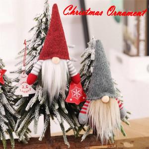 Christmas Handmade Scandinavian Tomte Santa Nisse Plush Toy Table Ornament Xmas Tree Decorations