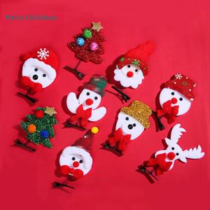 En stock Hairpin enfants de Noël Cadeaux de vacances Bonhomme de neige de Noël pour enfants Elk Mignon Accessoires cheveux Livraison gratuite