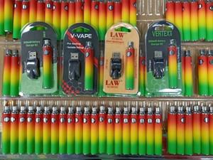 LAW V-VAPE Vertex Vape Batterie USB Charger Kit 3 Verpackungs 650mAh vorheizen Batterie E Cigarettes 510 Vape Pen VV Variable Spannung Batterien