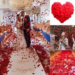 Parti Dekoratif Petaller 100pcs / Olmayan Dokuma Gül Düğün Valentine Günü Bezi Çiçek Petal önerme set