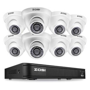 أنظمة Zosi 8CH 1080P قبة كاميرا فيديو مراقبة نظام المراقبة حامي نظام التحكم DVR CCTV كيت BNC كابل HDD في الهواء الطلق داخلي